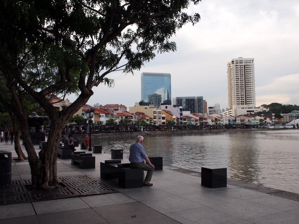 Schone straten van singapore aan het water