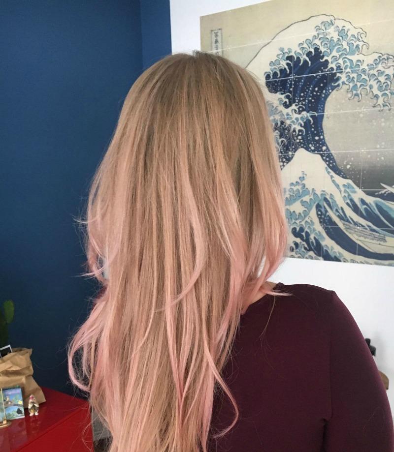 Nieuw kleurtje rose haar
