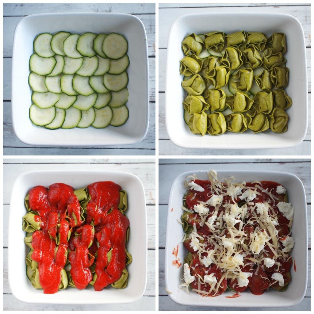 4 stappenplan Tortellini lasagne