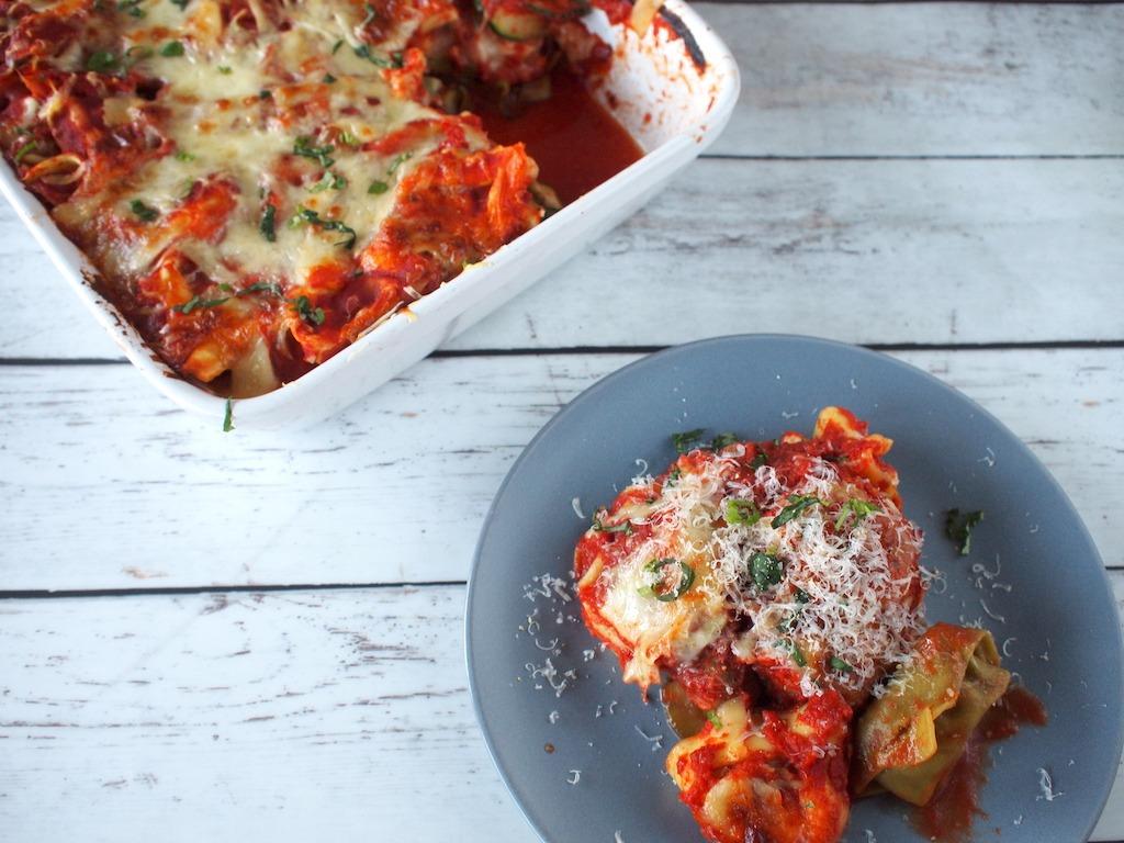 Tortellini lasagne uit de oven
