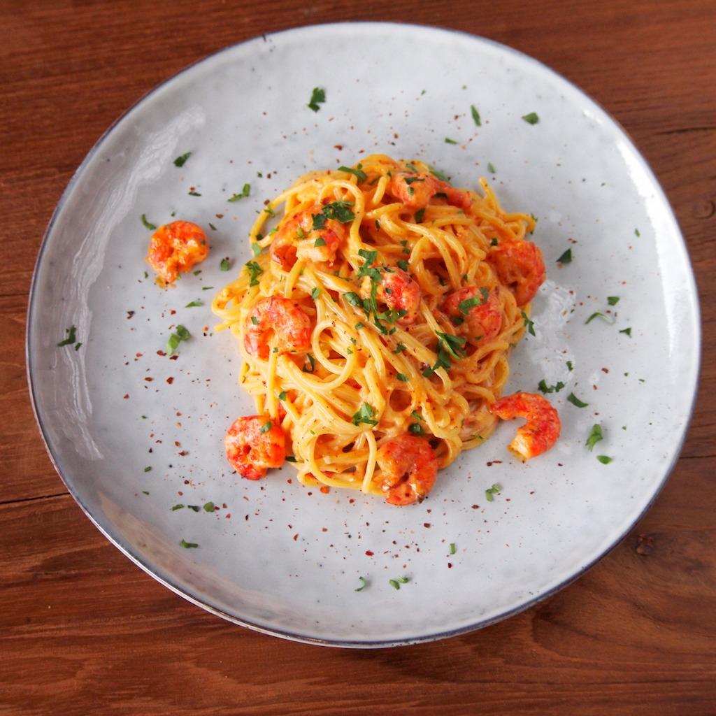 Bang Bang pasta's met gamba
