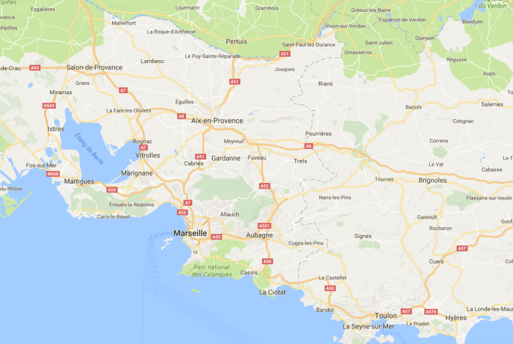 Locatie Aix en Provence Frankrijk