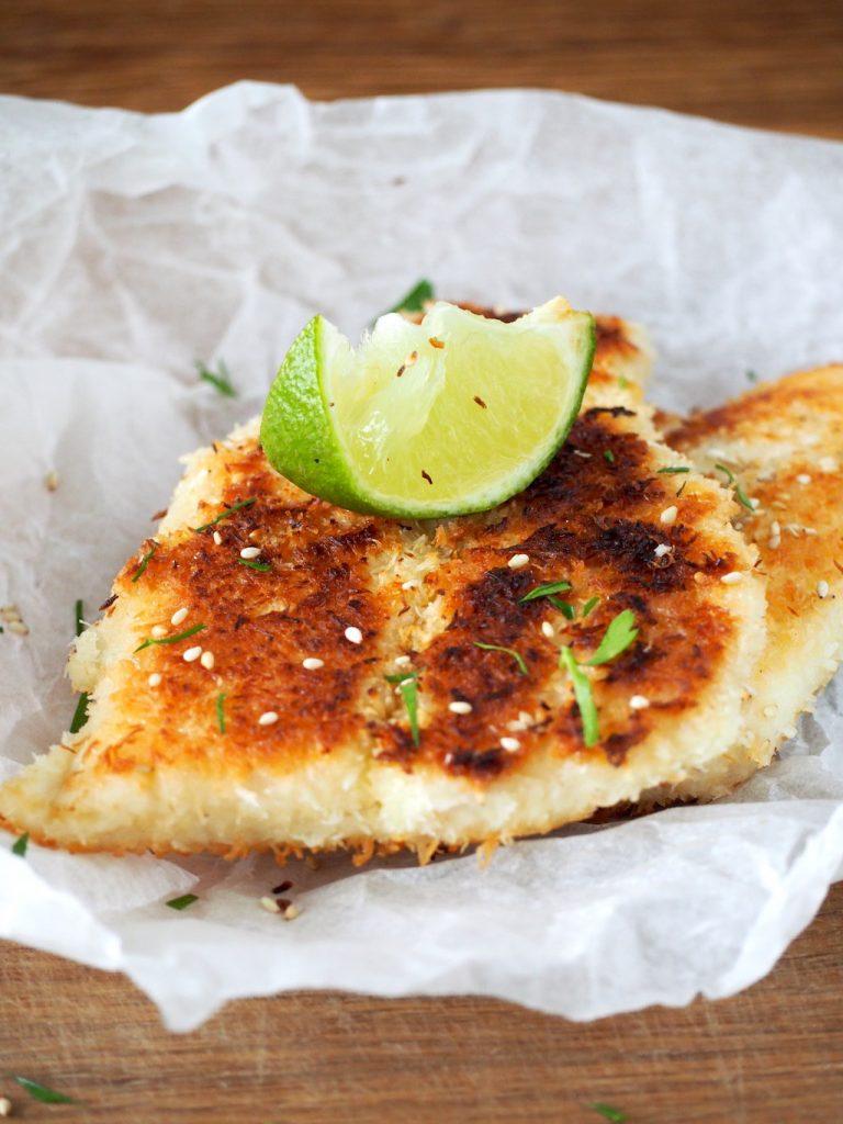 Vis met kokoskorstje glutenvrij paneren