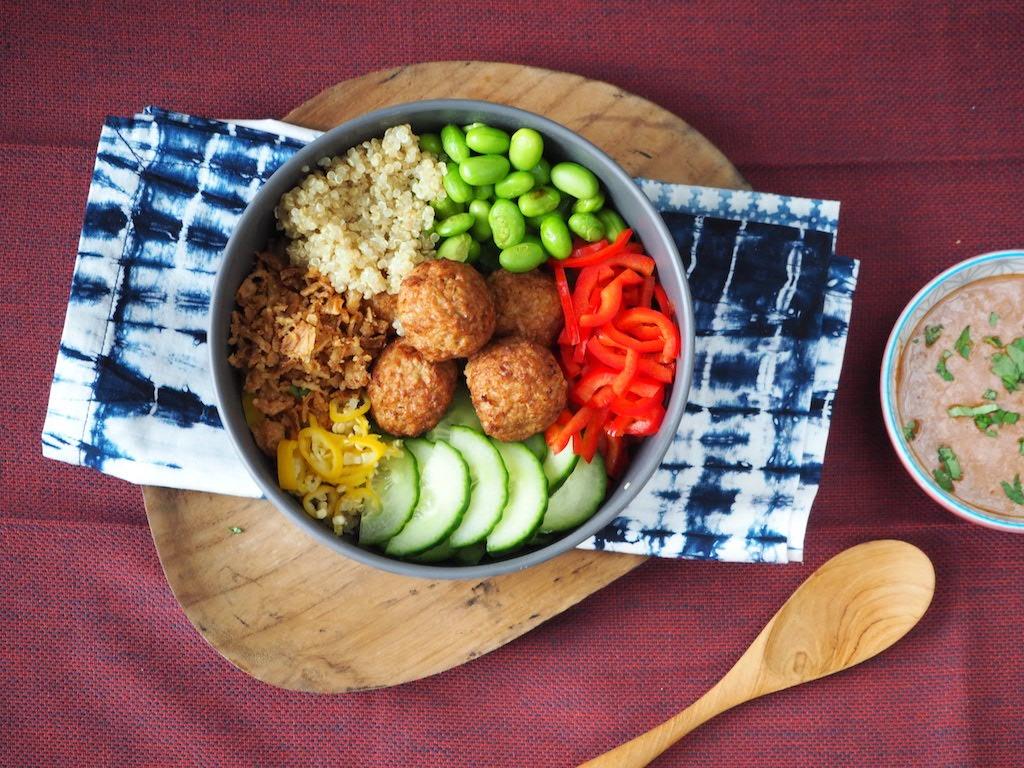 Vega Buddha bowl met quinoa
