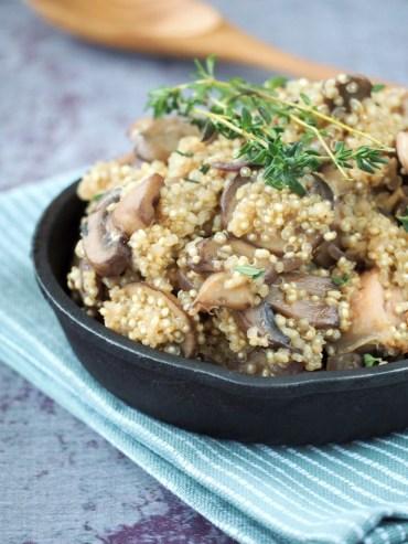 Winter Quinoa kip paddestoelen tijm