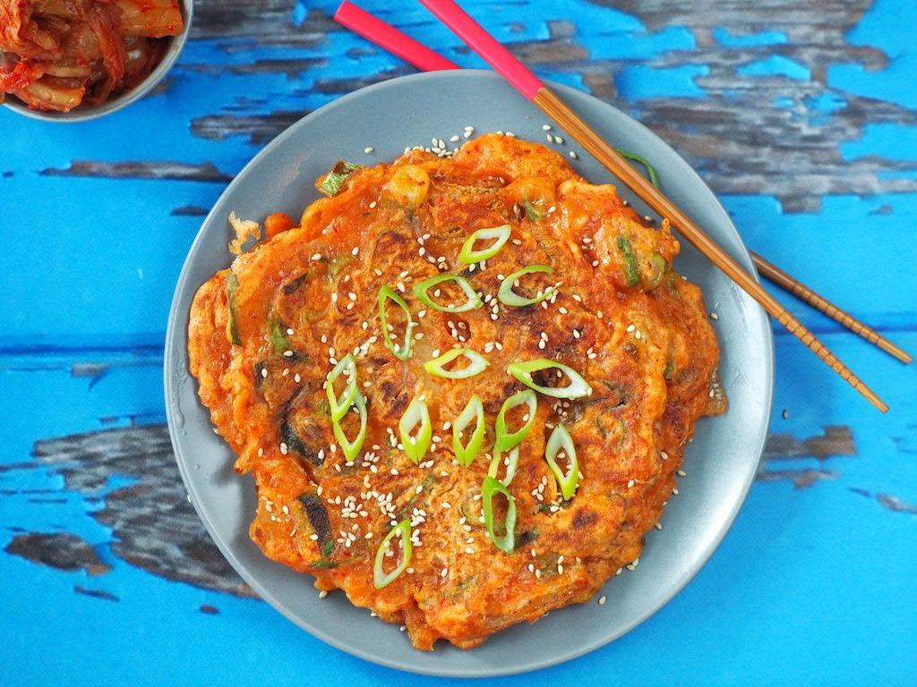Koreaanse Kimchi pannenkoeken