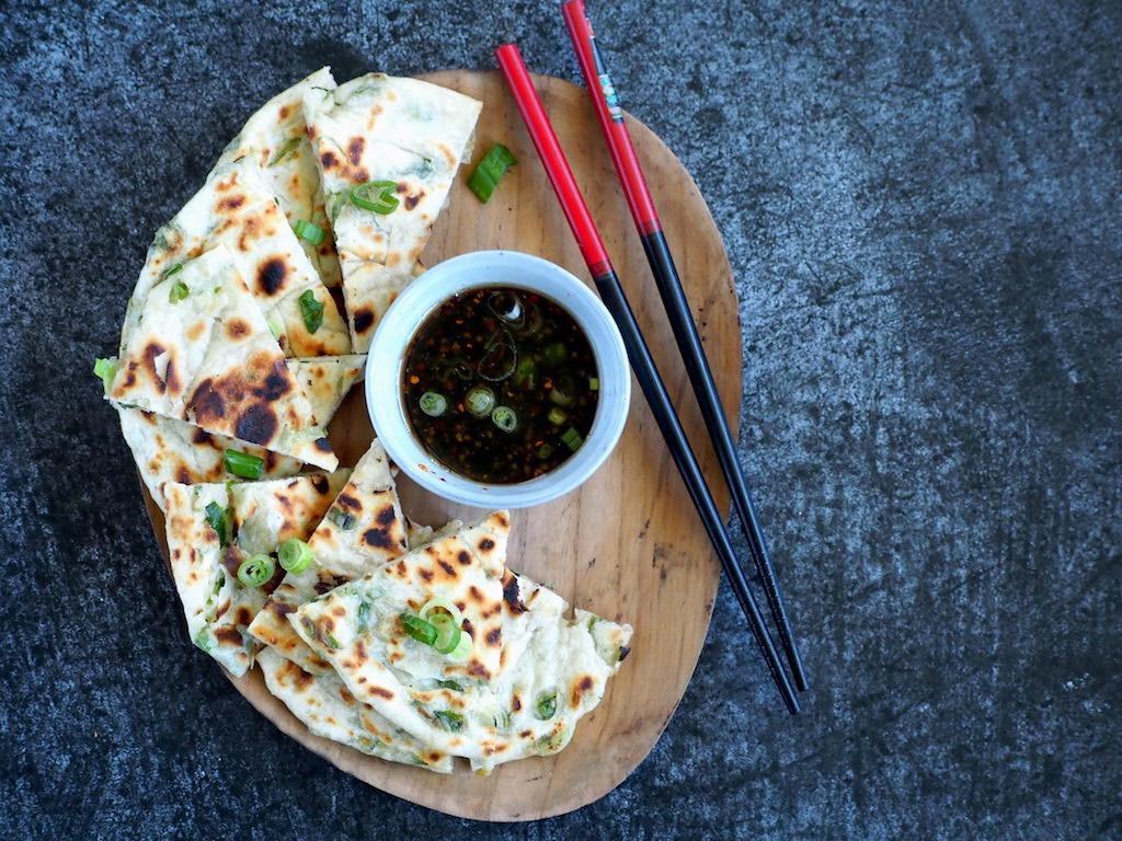 Chinese pannenkoekjes met lente ui