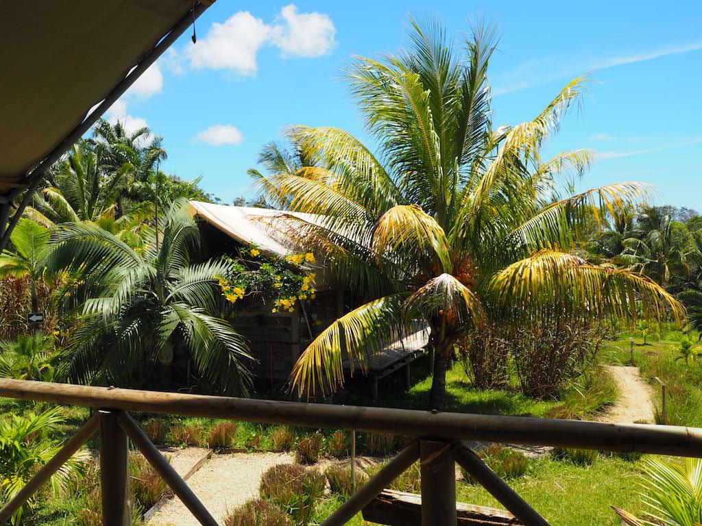 Otentic Mauritius uitzicht vanuit tent