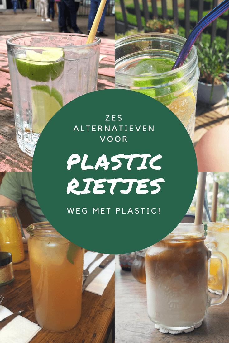 6 alternatieven voor plastic rietjes