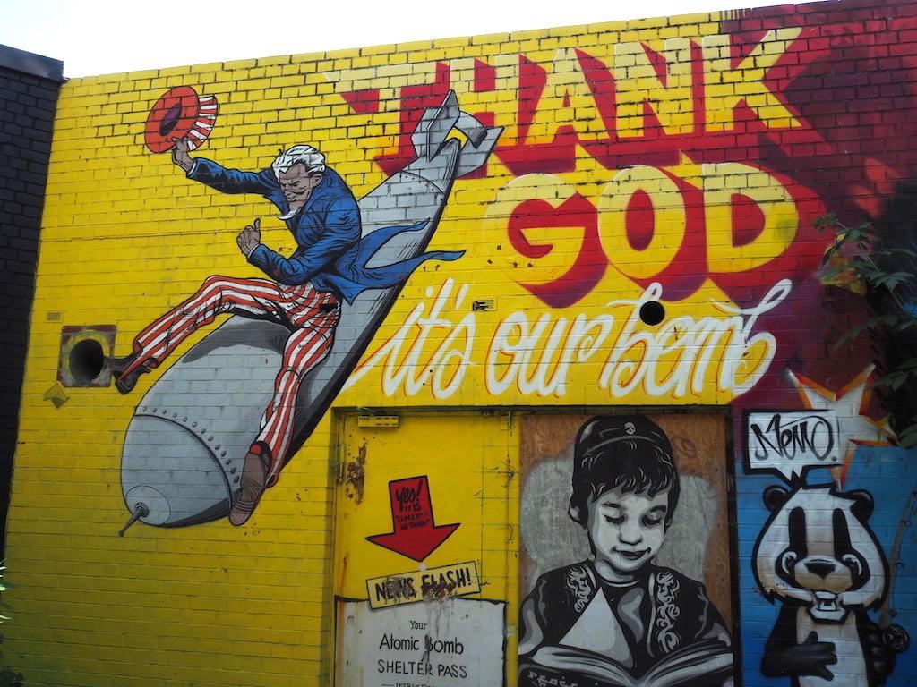 Graffiti bij teufelberg Berlijn