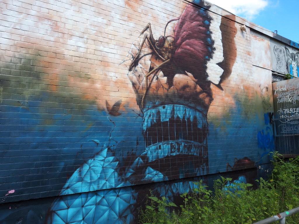 Teufelsberg Berlijn Streetart surreal