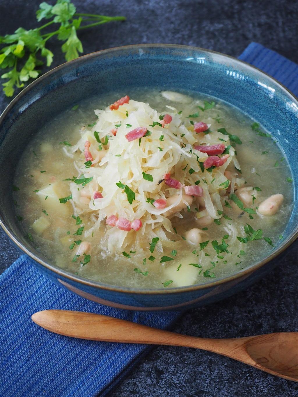 Zuurkool soep met spekjes