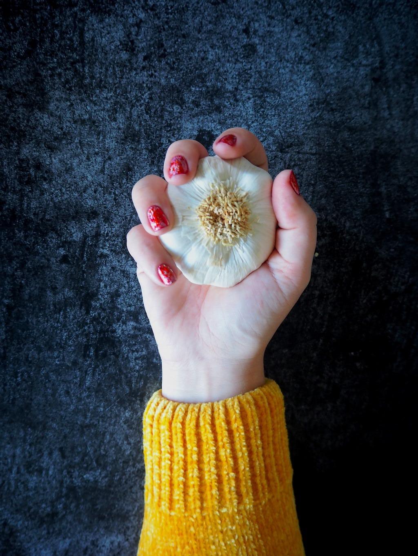 knoflookgeur aan handen