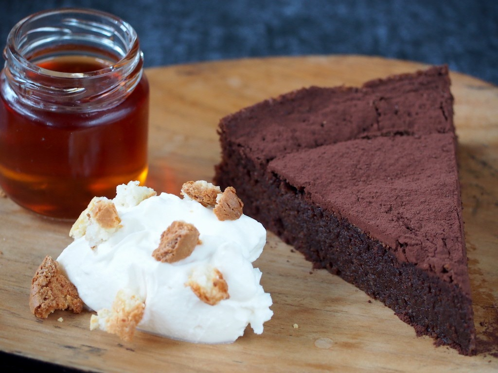 chocolade cake met amaretto
