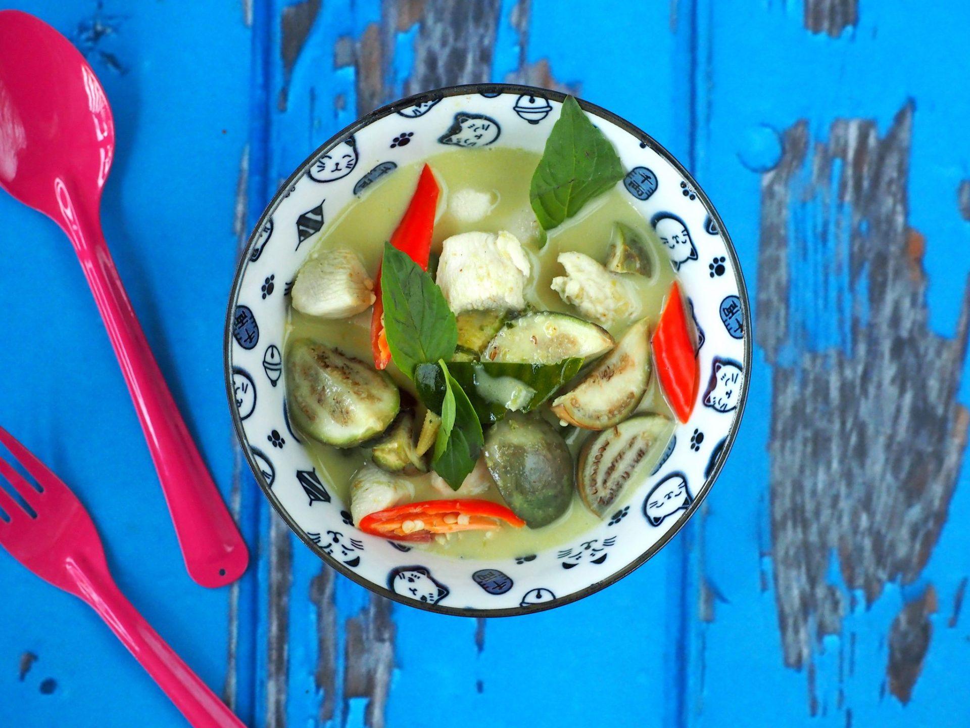 Thaise groene curry met authentieke ingredienten