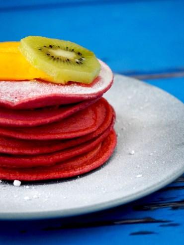 Red velvet pancakes zonder kleurstof