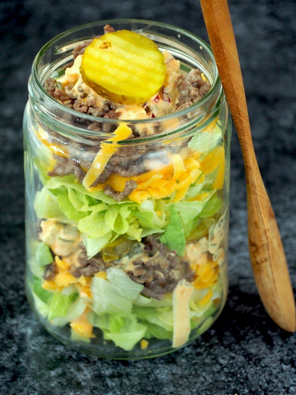 Koolhydraatarme big mac salade