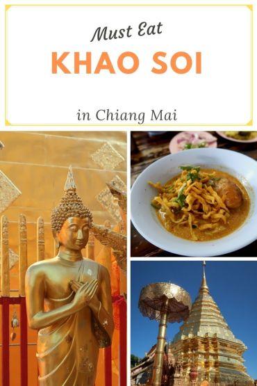Khao soi eten in Chiang Mai