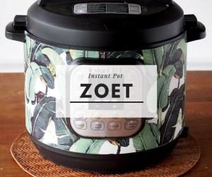 Instant Pot zoet menu