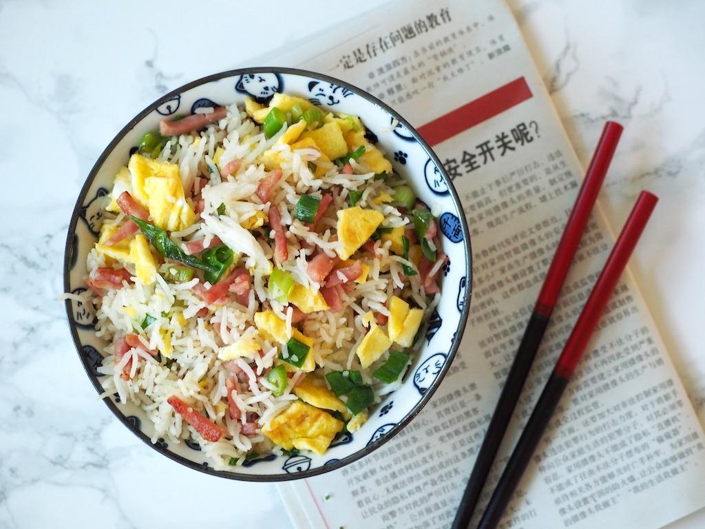 Chinese nasi ham ei lente ui