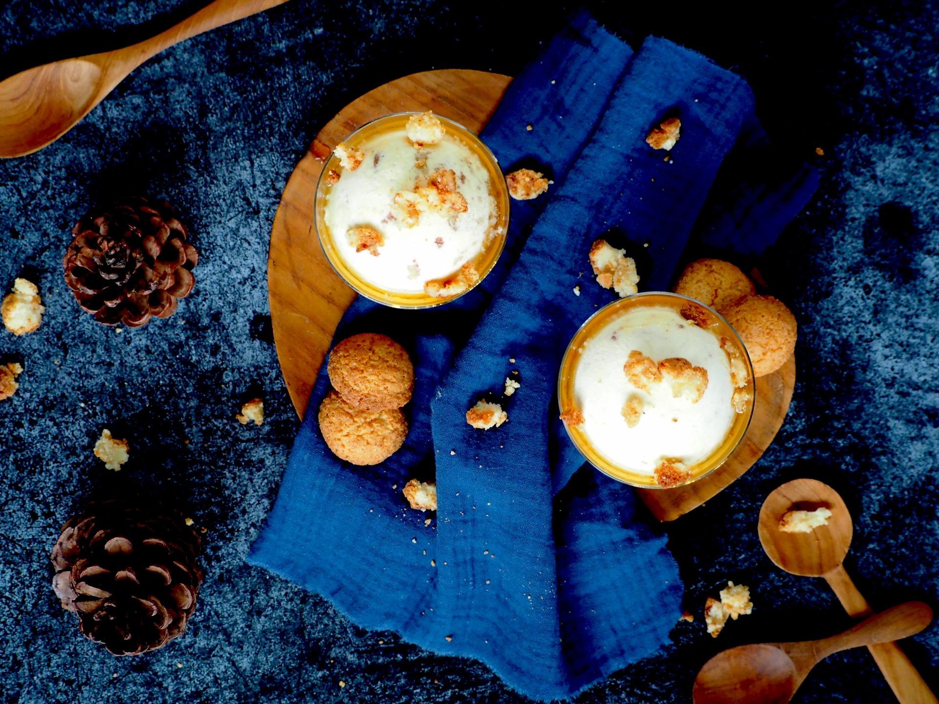 Bitterkoekjes Parfait met Amaretto