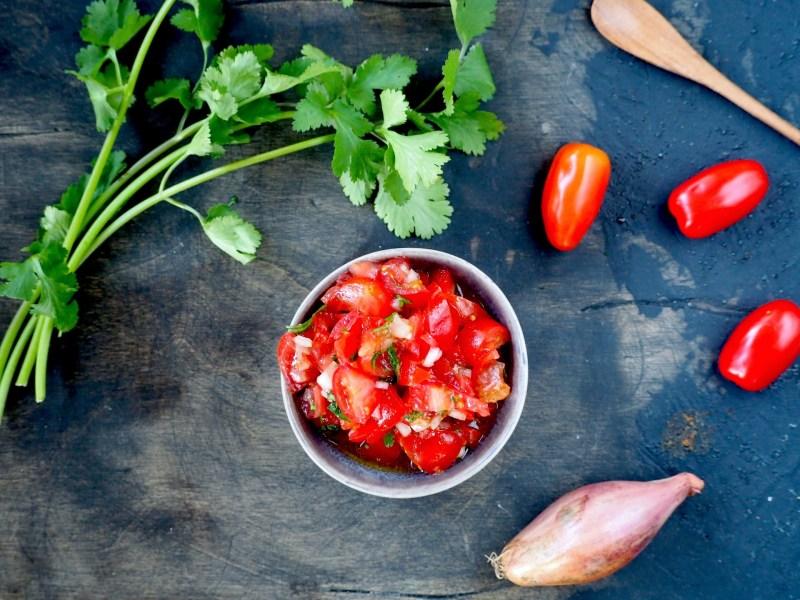 Indiase tomatensalade Kachumber