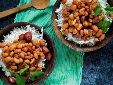 Surinaamse bruine bonen met rijst