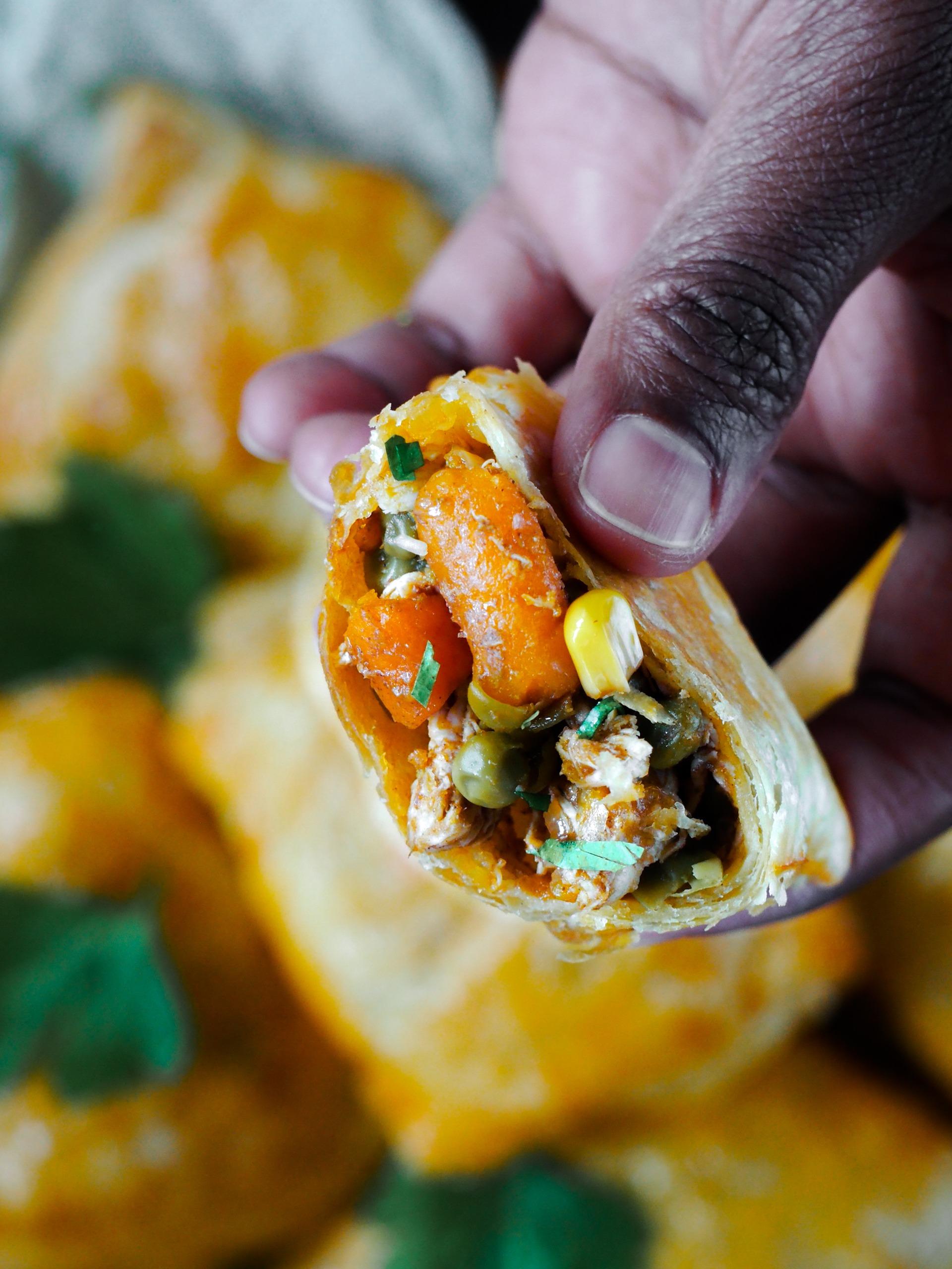 Surinaamse pasteitjes met kip