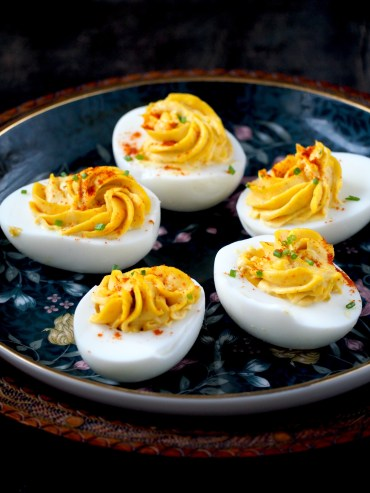 klassiek gevulde eieren