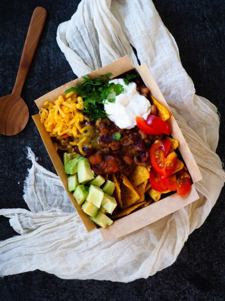 Instant Pot Chili con Carne met nacho's