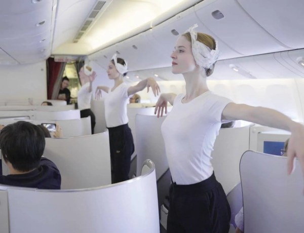 Air France ballet in the air
