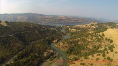 Confluence of Klickitat and Columbia Rivers