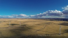 One of the many wind farms we flew through in Idaho.