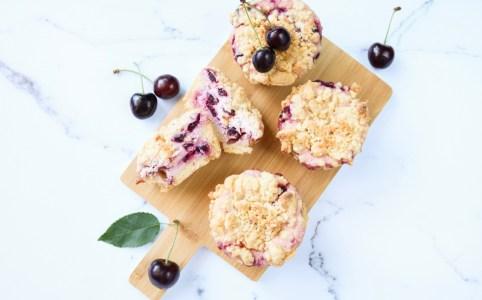 Käsekuchen-Kirsch-Muffins