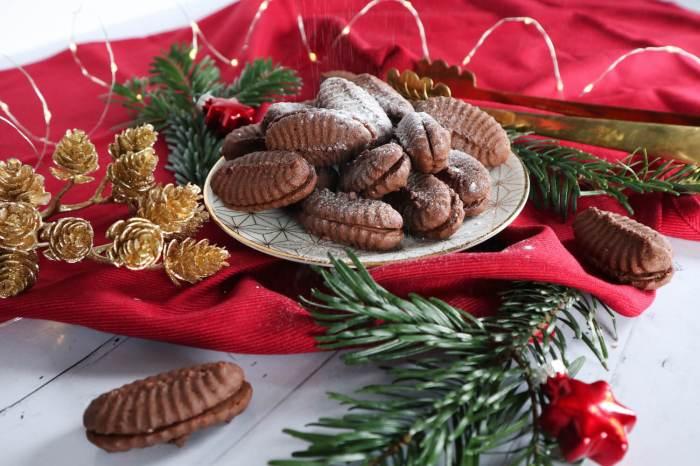 Nougatplätzchen schokoladige saftige Kekse mit Nuss-Nougat-Creme