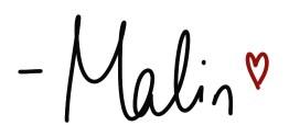 Malin handschriftliche Signatur mit Herz