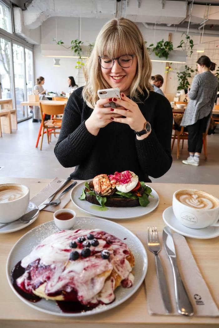 Vegetarischer Brunch bei Kaffeesaurus in Köln