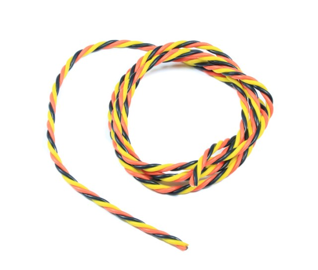 Twisted 22awg Servo Wire Red Black Yellow 1mtr