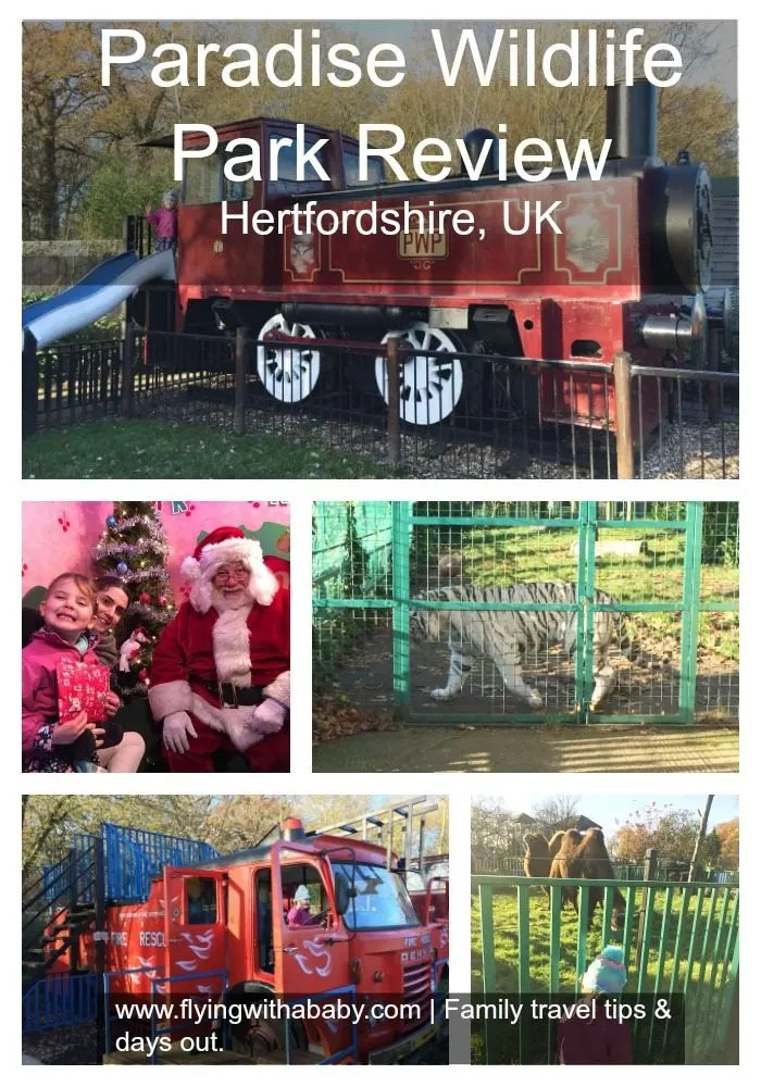 Paradise Wildlife Park review  Paradise Wildlife Park in Hertfordshire is conveniently open all year round. Apart from the obvious animal attractions the fantasy playground is great fun!