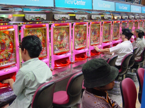 Pachinko Machine Gambling Hall