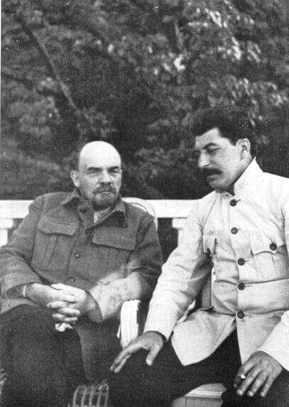Vladimir Lenin and Joseph Stalin in 1922