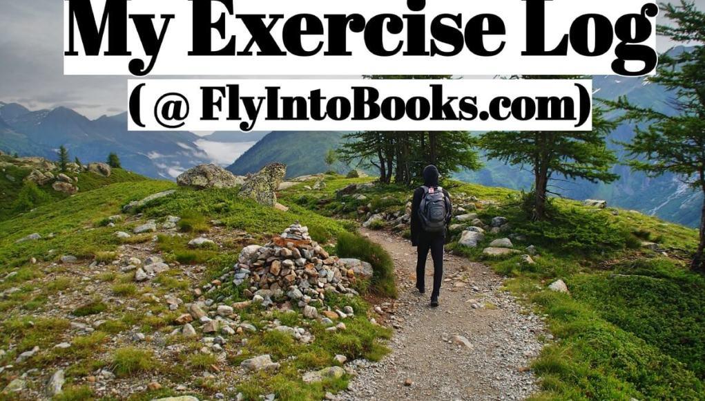 My Exercise Log (FlyIntoBooks.com)