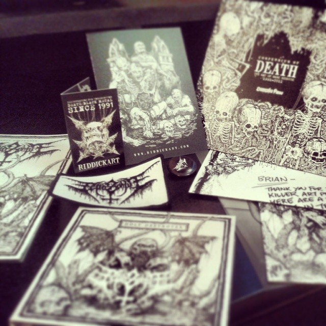 Just got this awesome art package from one of my favorite artists, Mark Riddick. If you appreciate great pen and ink work, check him out: riddickart.com.  Give him your money.#penandink #markriddick #riddick