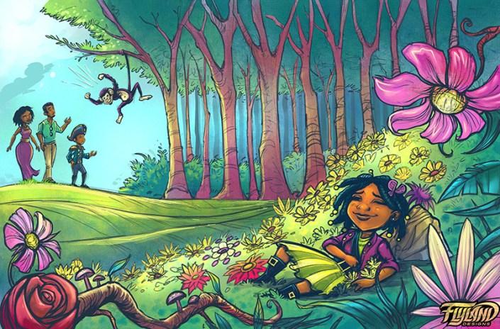 Magical fantasy book featuring p