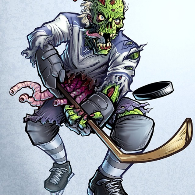 I designed this zombie hockey player for Lethal Threat.