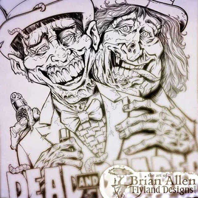 Here is my inked version of Dead and Deader.  I can't wait to show you all the finished version!