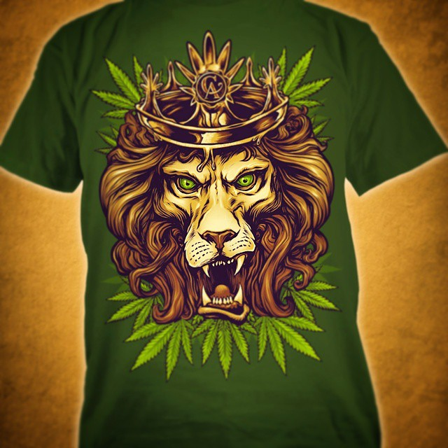 Here's the finished Rasta lion t-shirt design I illustrated for #concentratedapparel.  Love how this turned out. Illustration by Brian Allen www.flylanddesigns.com