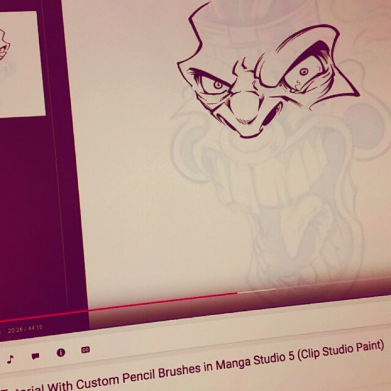 I just uploaded the most comprehensive Manga Studio 5 drawing, inking, and coloring tutorial using my new Manga Studuio brushes  to my YouTube channel - Here's a snapshot of the first part.Let me know what you think!www.youtu.be/nbLuHltstyU#tutorial #drawing #art #digital #mangastudio #illustration #instaart #instaartwork #instaartist #instaartpop #artist #artshow #creative #artwork #followme