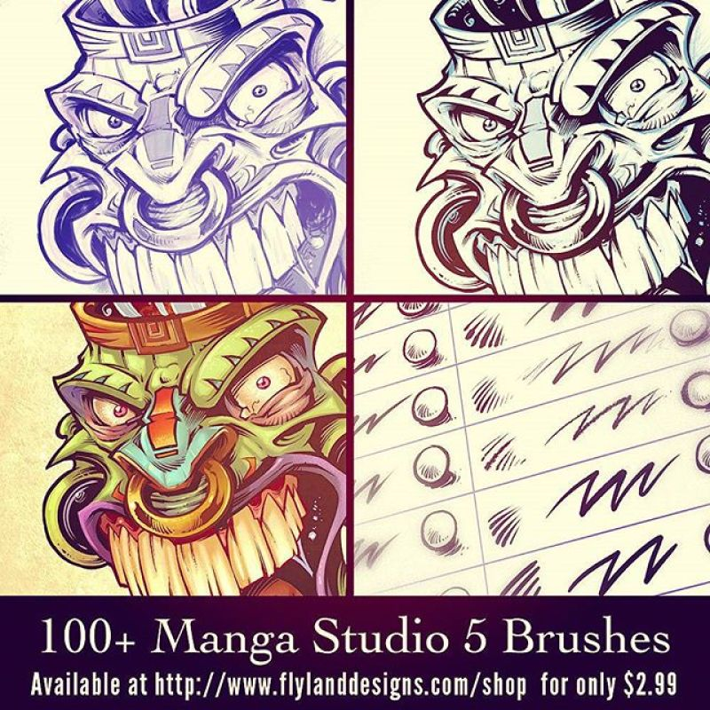 I just released this set of 100 Manga Studio brushes I created, available in my shop:  https://www.flylanddesigns.com/shopfor $2.99.I'm really excited about how many people have already downloaded them, and I'm getting great feedback. That means a lot to me, because I put a ridculous amount of work into these, and use them every day.  Happy to share them!#mangastudio #brushes #presets #art #digital #clipstudiopaint #illustration #instaart #instaartwork #instaartist #instaartpop #artist #artshow #creative #artwork #followme