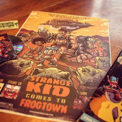 Just got a package of cool stuff from Strange Kids Club - a really unique comic parody of 80s Saturday Morning cartoons called Bronar, written by Rondal Scott III, and illustrated by a ton of talented artists, including one of my favorites, Michael Anderson.I was tasked with illustrating the poster, which is now proudly hanging in my studio!Illustrated by Brian Allen, FlylandDesigns.com#strangekidsclub #bronar #mangastudio #photoshop #illustration #tshirt #art #instaart #instaartist #picoftheday #igdaily #followme